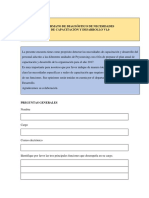 Ejemplo formato de diagnóstico de capacitación y desarrollo