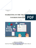 A free sample on Marketing in the Travel And Tourism Industry