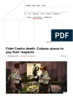 Fidel Castro Death_ Cubans Queue to Pay Their Respects - BBC News