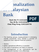 Group 3 Regionalization of Bank