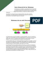 Arquitectura General de Los Sistemas
