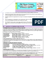 Fiji Meteorological Service - Fiji Climate Outlook November 2016 to January 2017 and February to April 2017