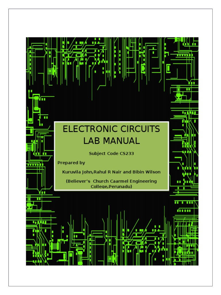 Cs Lab Manuel Final Pn Junction Diode Circuitlab 555 Bistable Circuit