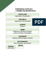 INFORME DE LABORATORIO N°1 FÍSICA II