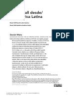 2016 Daniel Mato Stuart Hall Desde-En America Latina