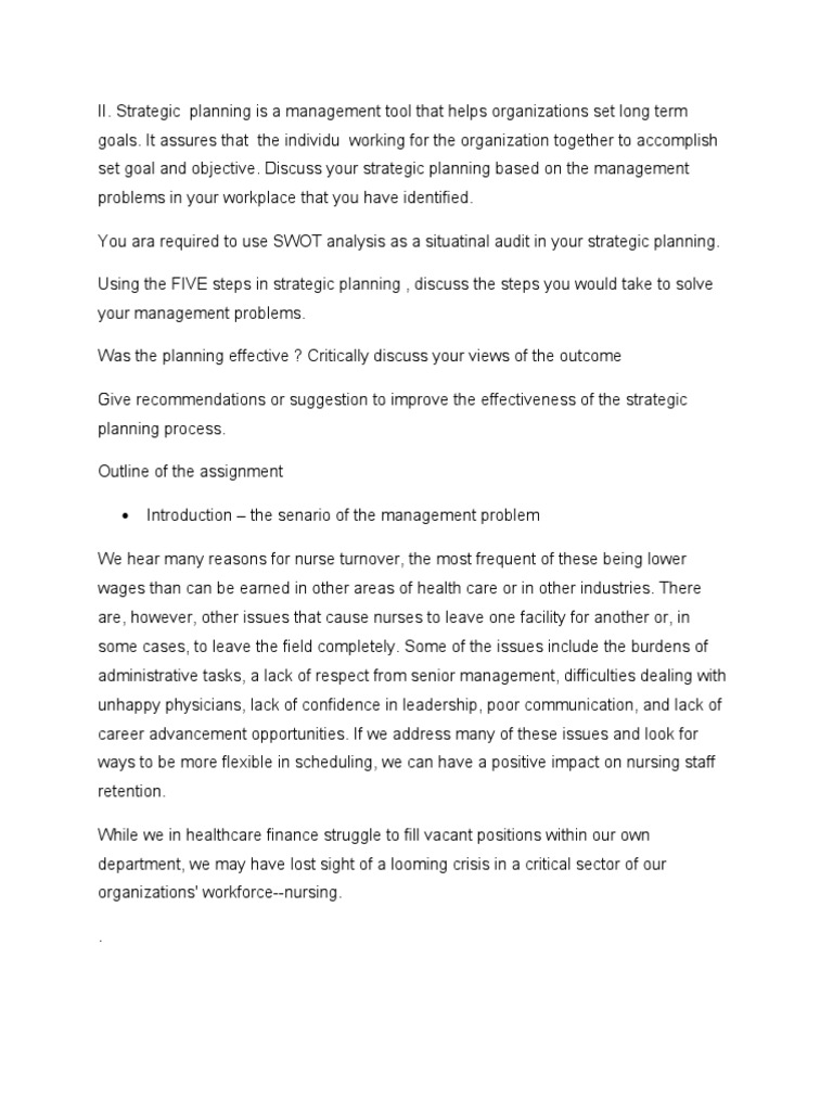swot analysis for long term care facility