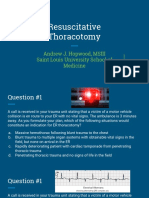 Resuscitative Thoracotomy