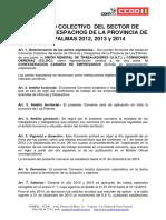 Convenio Oficinas y Despacho 2012-2014