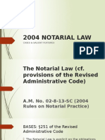2004 Notarial Law