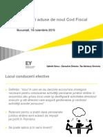 Modificari Din Noul Cod Fiscal