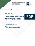 Asignatura 4 Caso Práctico 1. Plan de Emergencia