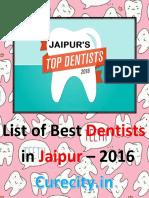Top 10 Best Dentists in Jaipur - Curecity