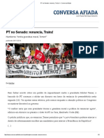 PT No Senado_ Renuncia, Traíra! — Conversa Afiada