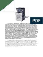 Physics 1 Research Paper XEROX MACHINE