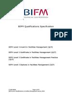 BIFM Level 3 Qualifications Specification