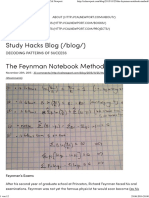 The Feynman Notebook Method - Study Hacks - Cal Newport