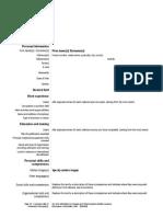 Sample CV Format Europass.doc