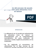 Optimización Del Proceso de Secado Por Aspersión Para