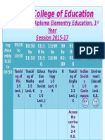 Time Table (C)