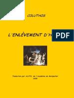 Coluthos - L'Enlevement d'Helene