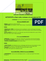 ESPAI DE TERÀPIES ALTERNATIVES - Besalú 26-27 de Juny 2010 informació activitats