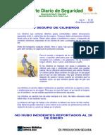 Uso de Cilindros GasesReporte Diario 29 Enero 09