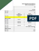 Jadwal Acara Workshop Versi 2012 Kasongan