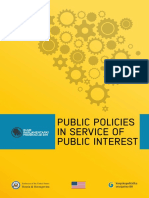 Public Policies in Service of the Public Interest