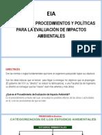 Semana N°04 - Directrices, Procedimientos y Políticas para la Evaluación de Impactos Ambientales