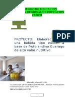 Proyecto Elaboracion de Una Bebida Tipo Nectar a Partir Del Guaraco (Reparado) 1