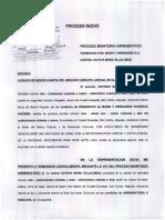 MONITORIO ARRENDATICIO