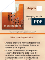 Managing and the Manager's Job