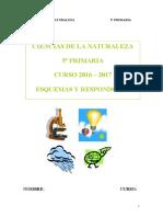 Ciencias de La Naturaleza - 5_primaria - Esquemas y Respondones 2016-17