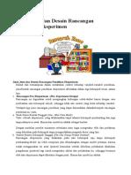 Jenis-Jenis Dan Desain Rancangan Penelitian Eksperimen