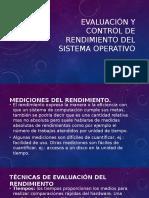 Evaluación y Control de Rendimiento Del Sistema Operativo