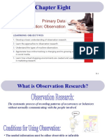 8- Primary Data Collection, Observation