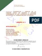 Modelos Cuadraticos y Lineales
