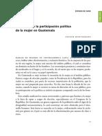 El Desafio de La Participacion Politica de La Mujer en Guatemala (1)