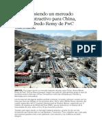 Erú Sigue Siendo Un Mercado Bastante Atractivo Para China