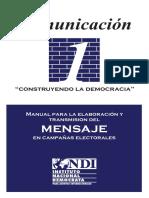 MANUAL PARA TRANSMISION DEL MENSAJE EN CAMPAÑAS ELECTORALES