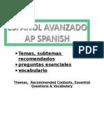 AP Spanish Vocabulary & Themes