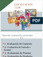 2da Clasetipos de Evaluacion Curricular - Clase