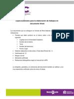 Especificaciones de Documentos Word