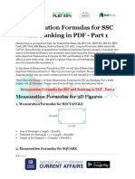 Mensuration Formulas for SSC and Banking in PDF Part 1