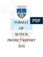 M.tech Project Report Guidlines