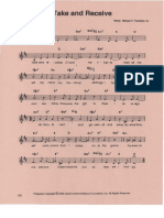 Take and Receive Music Sheet