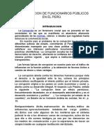 La Corrupcion de Funcionarios Públicos en El Perú