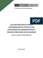 Guia Metodologica de Determinacion de Costos