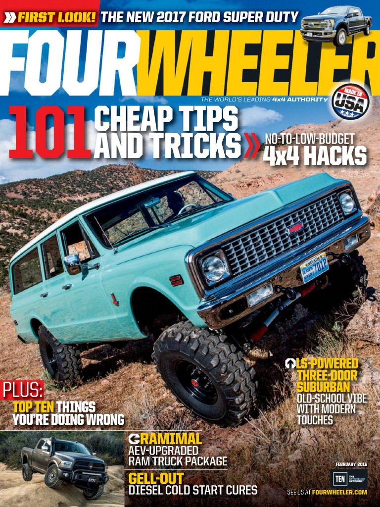 Four Wheeler February 2016 Ford F Series Land Vehicles 2004 Trailblazer Diagramclunk Spring Goes In The Transbolt