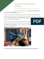 Estrategias y Tips Para El Trabajo de Los Desafíos Matemáticos